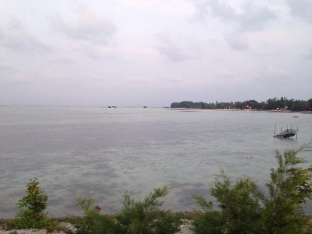pulau pari di pagi hari..